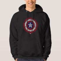 Captain America Alias Typography Shield Hoodie