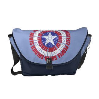 Captain America Alias Typography Shield Messenger Bag