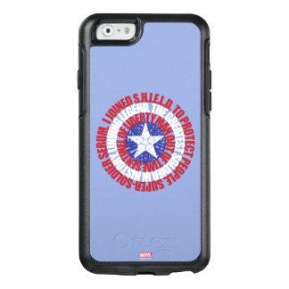 Captain America Alias Typography Shield OtterBox iPhone 6/6s Case