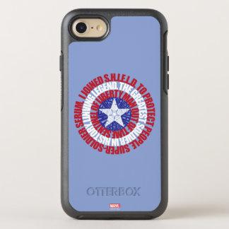Captain America Alias Typography Shield OtterBox Symmetry iPhone 7 Case