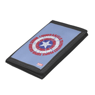 Captain America Alias Typography Shield Tri-fold Wallet
