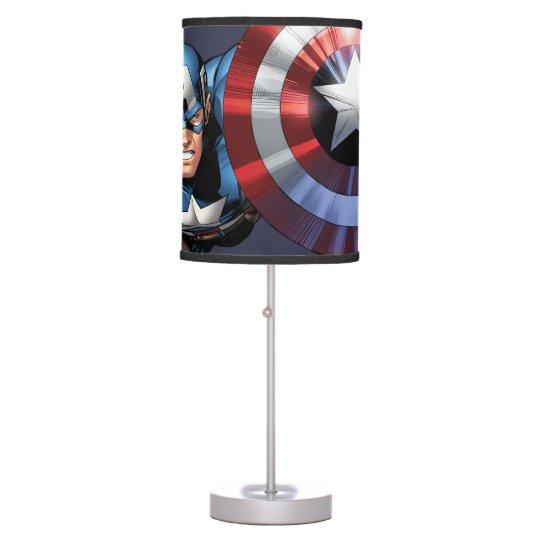 Captivating Captain America Assemble Desk Lamp