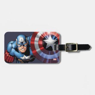 Captain America Assemble Luggage Tag