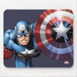 Captain America Assemble Mouse Pad
