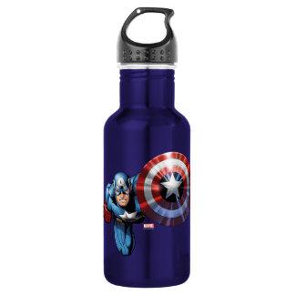 Captain America Assemble Stainless Steel Water Bottle