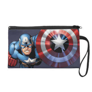 Captain America Assemble Wristlet Purse