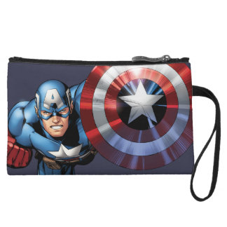 Captain America Assemble Wristlet Wallet