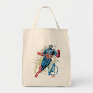 Captain America Avenger Grunge Graphic Tote Bag