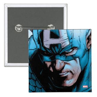 Captain America Avengers Comic Panel Pinback Button