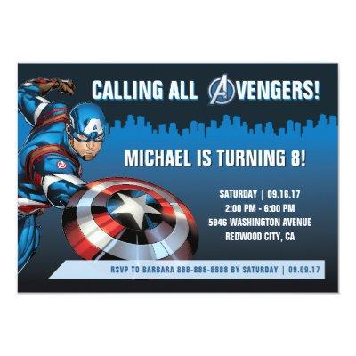 Marvel Spiderman Birthday Invitation