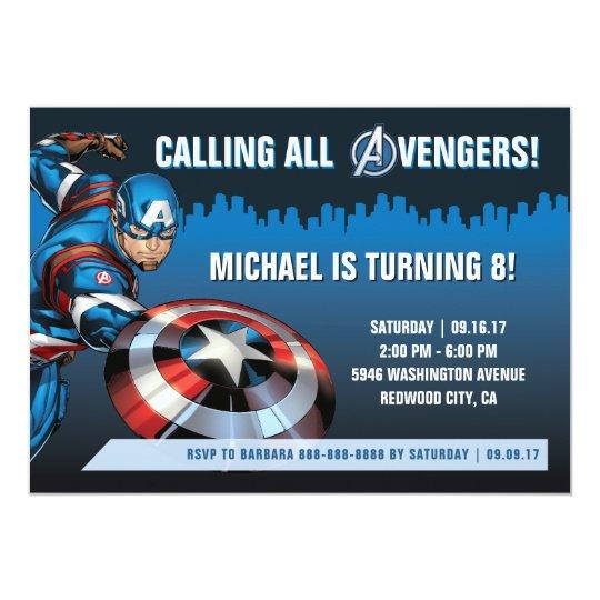 Captain America Birthday Invitation | Zazzle.com
