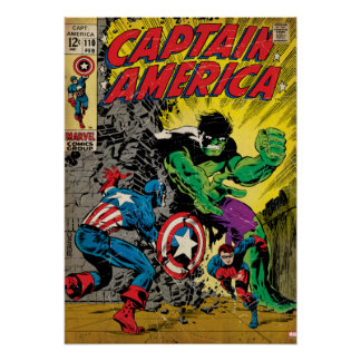 Captain America Comic #110 Poster