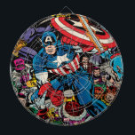 "Captain America Comic #112 Dart Board<br><div class=""desc"">Check out this classic Captain America comic book cover for issue number 112. This comic cover features Captain America fighting off several villains,  such as Red Skull.</div>"