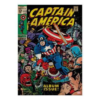 Captain America Comic #112 Poster