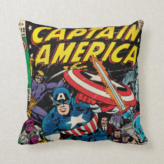 Captain America Comic #112 Throw Pillow