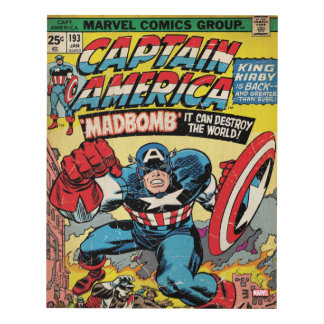 Captain America Comic #193 Panel Wall Art