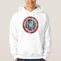 Captain America Comic Patterned Shield Hoodie