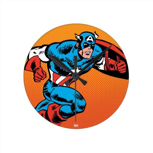 Captain America Dash Round Clock