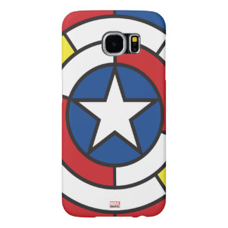 Captain America De Stijl Abstract Shield Samsung Galaxy S6 Case