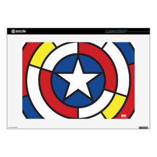 "Captain America De Stijl Abstract Shield Skin For 15"" Laptop"