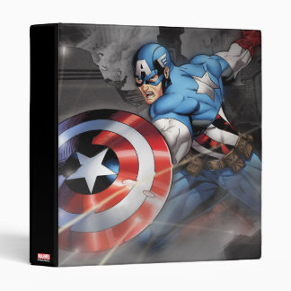 Captain America Deflecting Attack 3 Ring Binder