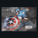 """Captain America Deflecting Attack 