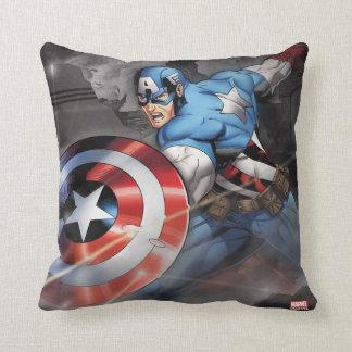 Captain America Deflecting Attack Throw Pillow