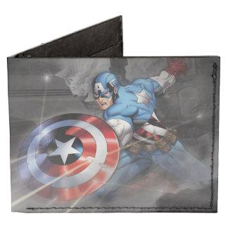 Captain America Deflecting Attack Tyvek Wallet