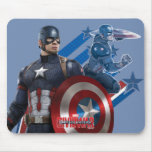 Captain America Dual Pose Graphic Mouse Pad