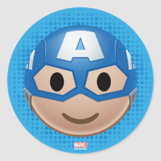 Captain America Emoji Classic Round Sticker