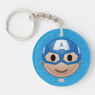 Captain America Emoji Keychain
