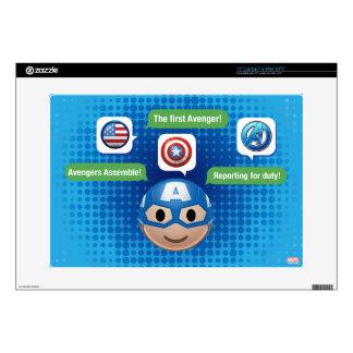 Captain America Emoji Skin For Laptop