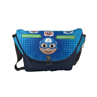 Captain America Emoji Small Messenger Bag