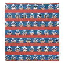 Captain America Emoji Stripe Pattern Bandana