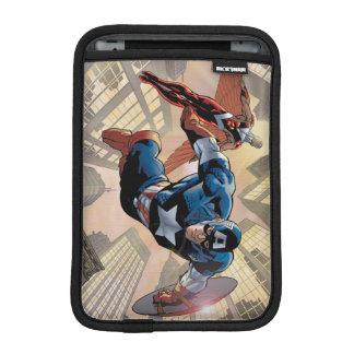 Captain America & Falcon Comic Panel iPad Mini Sleeve