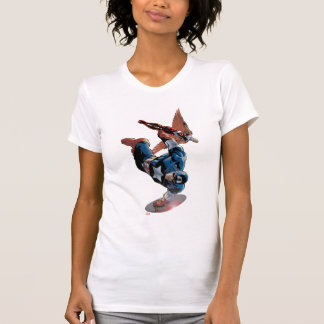Captain America & Falcon Comic Panel T-Shirt