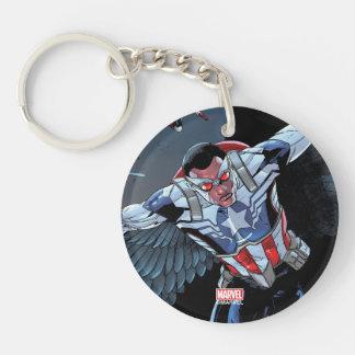 Captain America Fighting Crime Keychain