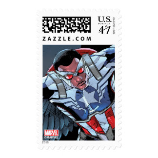 Captain America Fighting Crime Postage Stamp