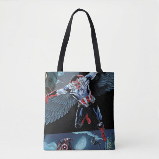 Captain America Fighting Crime Tote Bag