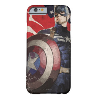 Captain America Flag Artwork Barely There iPhone 6 Case