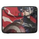 Captain America Flag Artwork MacBook Pro Sleeves