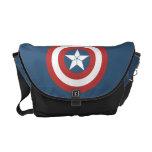 Captain America Flat Color Shield Courier Bag