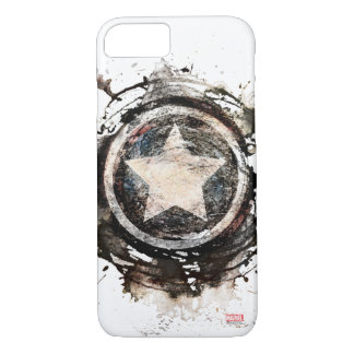 Captain America Grunge Shield iPhone 8/7 Case