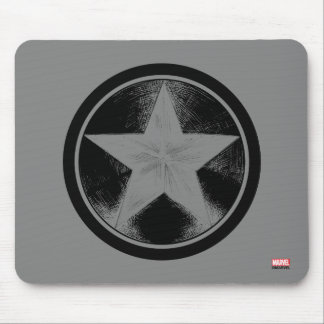 Captain America Grunge Shield Mouse Pad