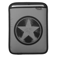Captain America Grunge Shield Sleeve For Ipads at Zazzle