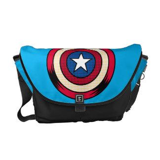 Captain America Halftone Shield Courier Bag