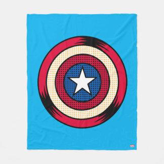 Captain America Halftone Shield Fleece Blanket