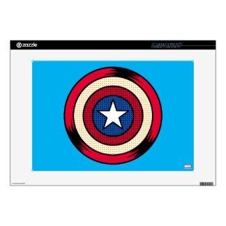 Captain America Halftone Shield Laptop Skins