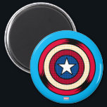 """Captain America Halftone Shield Magnet<br><div class=""""desc"""">Avengers Classics 