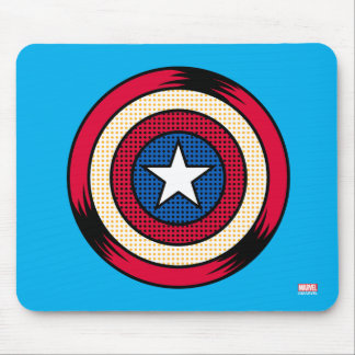 Captain America Halftone Shield Mouse Pad